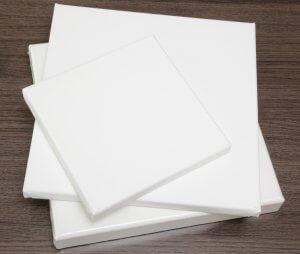 Bespannte Keilrahmen Standard Rahmenstärke 20x35 mm - 100 % Baumwolle ca. 360 g/m²
