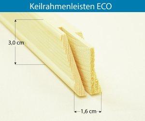 Keilrahmenleisten ECO Rahmenstärke 16x30 mm