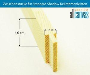 Zwischenstücke für Standard Shadow Keilrahmenleisten