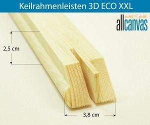 Keilrahmenleisten 3D ECO XXL Rahmenstärke 38x25 mm