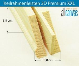 Keilrahmenleisten 3D Premium XXL Rahmenstärke 38x38 mm