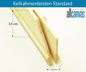 Keilrahmenleisten Standard  Rahmenstärke 20x35 mm